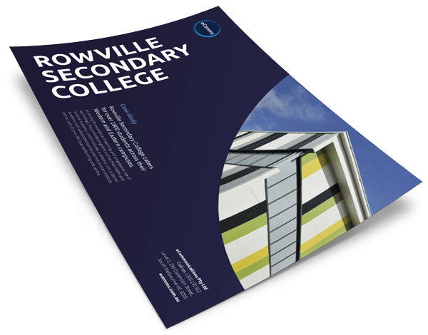 Rowville College case study cover